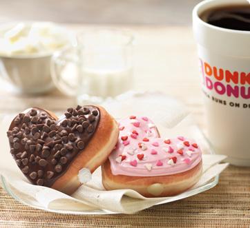 DD's Heart-Shaped Donuts