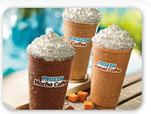 Frozen Coffee drinks at Dunkin'