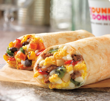 New Southwest Steak and Veggie Breakfast Burritos