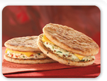 Try a better-for-you DDSMART® breakfast sandwich