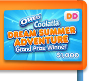OREO® Coolatta® Dream Summer Adventure Grand Prize Winner $1,000