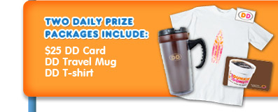 Two Daily Prize Packages include: