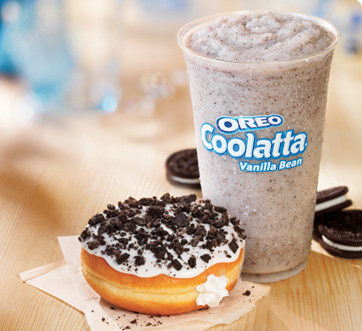 New OREO® Coolatta® beverages available in Vanilla Bean and Coffee flavors and OREO® Donut