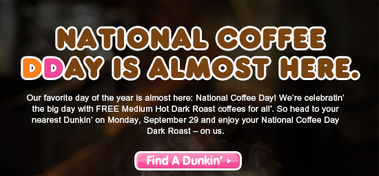 NATIONAL COFFEE DDAY IS HERE.